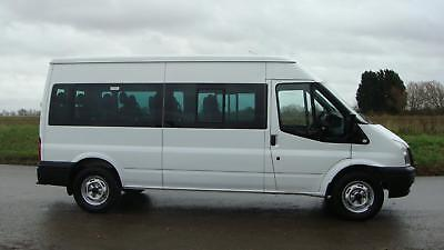 2013 Ford Transit T350 Lwb 14 Seater Seats Mini Bus 135 Bhp 65,000 Miles 6 Speed