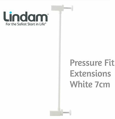 Lindam PRESSURE FIT EXTENSIONS WHITE 7CM Safety Stair Gate BNIP