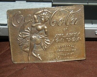 Coca Cola of Atlanta Ga. Brass Belt Buckle