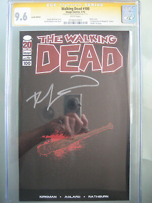 Walking Dead #100 Lucille Edition CGC 9.6 SS **Signed Robert Kirkman** 1st Negan
