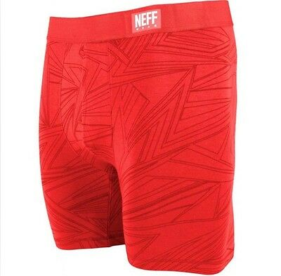 NWT $20 NEFF Men's Daily Active Boxer Briefs Size Small DAILY RED Underwear