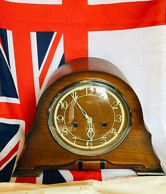 Smiths Of Enfield 8 Day Oak Cased Clock