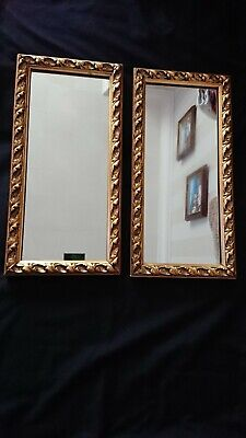 Pair of antique Edwardian gilded mirrors