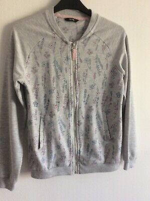 Girl's George Grey with Pastel Colour Florals Zip Up Bomber Jacket Age 11-12 yrs