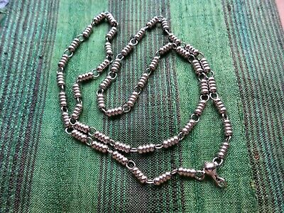 "28"" Stainless Steel Buddhist Amulet Necklace/Chain ""Simple Stylish Bead Design"""