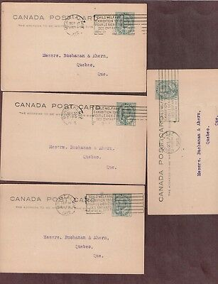 Canada 1912 Canada Post Cards (4) UX22 (P22) with Child Welfare slogan C-1020