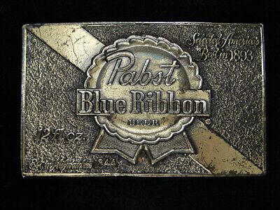 Ra13147 Vintage 1979 **Pabst Blue Ribbon Beer** Advertisement Belt Buckle