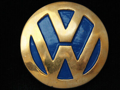 RA13173 *NOS* VINTAGE 1970s **VOLKSWAGEN** CAR LOGO SOLID BRASS BELT BUCKLE
