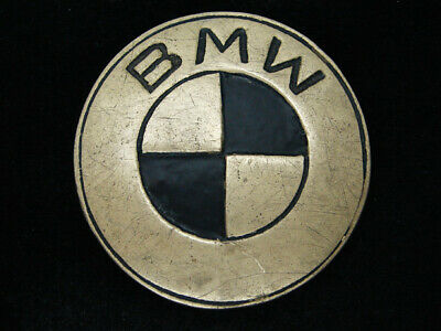 RA13150 VINTAGE 1970s **BMW** CAR & AUTO COMPANY SOLID BRASS BELT BUCKLE