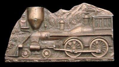 RC14142 AWESOME 1977 **LOCOMOTIVE STEAM ENGINE** w/HIDDEN SMOKING PIPE BUCKLE