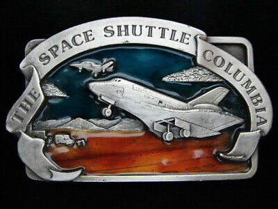 Pd21110 Vintage 1982 **The Space Shuttle Columbia** Commemorative Belt Buckle
