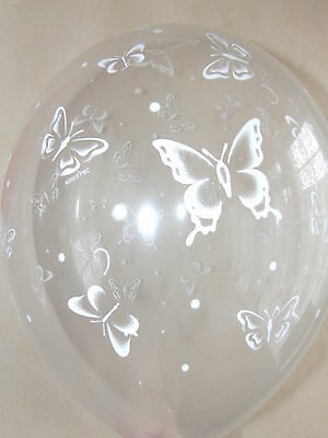 Clear Printed Butterfly Balloons Helium Quality