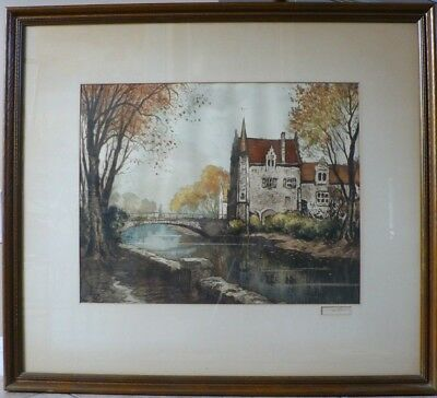 """Original Signed Lithograph """"Europe"""" Very Fine Condition large 33 X 38"""