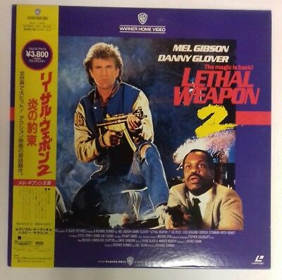 Laserdisc Lethal Weapon 2  Japan Ntsc With  Obi
