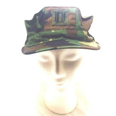 Camouflage Military Hat Type II Lieutenant Captain rank Cap Size Medium BDU