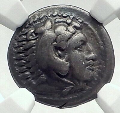 ALEXANDER III the GREAT Ancient 325BC LIFETIME Silver Greek Coin NGC i77296