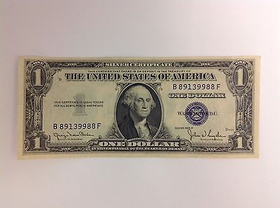 Crisp 1935 D One Dollar $1 Bill Blue Silver Certificate U.S. Currency Note