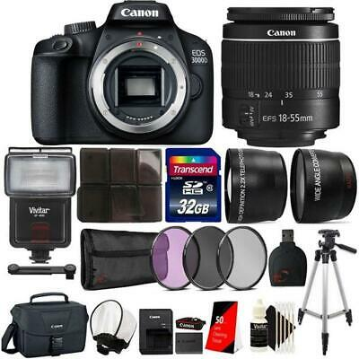 Canon EOS 3000D / Rebel T100 SLR Camera w/ 18-55mm Lens and 32GB Accessory Kit