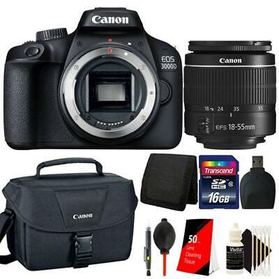 Canon EOS 3000D / Rebel T100 SLR Camera with 18-55mm Lens and 16GB Bundle