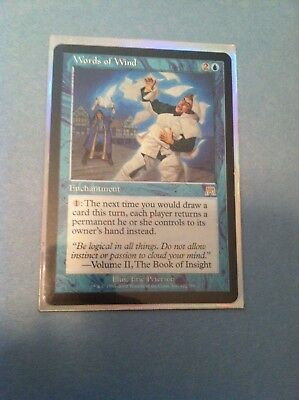 MTG Words of Wind x1 Magic the Gathering Onslaught Enchantment sleeve L@@K !