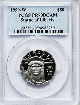 1999-W PCGS PR70 1/2 oz Proof Platinum Eagle $50