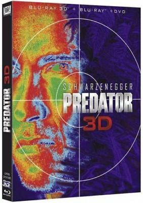 Blu Ray 3D + 2D + DVD : Predator 3D + Version 2D - NEUF