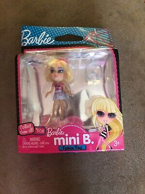 Barbie Mini B Fashion Ring #508 New In Box Blonde Hair Wear Barbie On Your Hand