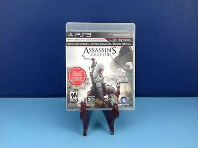 Assassin's Creed III 3 Signature Edition Complete Tested Sony Playstation 3 PS3
