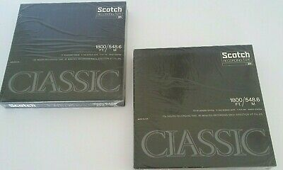 """Vintage 2 Scotch Brand Classic 7"""" Reel to Reel Recording Tapes N.O.S NEW"""