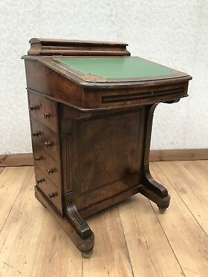 Vintage Walnut Inlaid Davenport Desk
