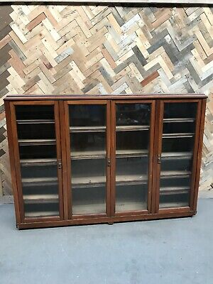 Vintage Library Bookcase Cabinet