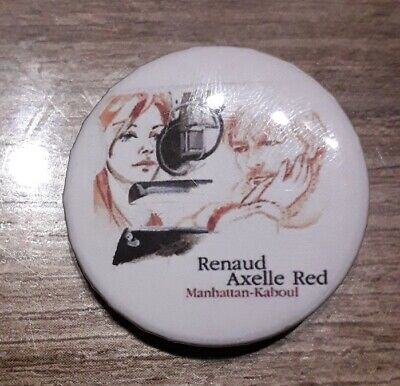 Badge 32mm Renaud et axelle red n°27