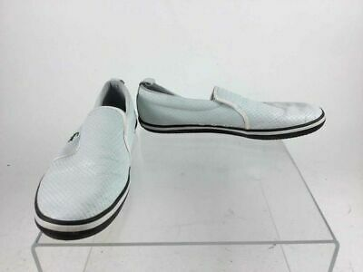 fbc3494f3248 Lacoste White Leather Maui Weave Slip On Casual Shoes Size 9.5 444