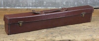Beautiful And Unusual Long Thin Antique Leather Case Musical ? Instrument