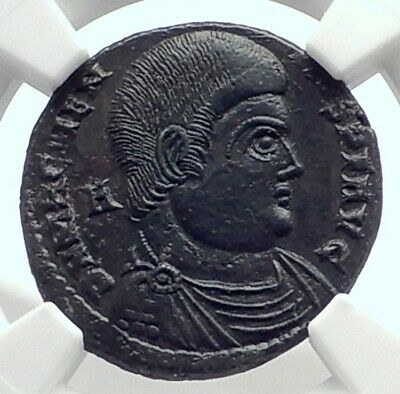MAGNENTIUS Authentic Ancient 350AD Genuine Roman Coin w VICTORIES NGC i77345
