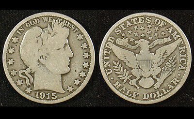 1915 Barber Half Dollar; A Scarce One Here in Collectible Grade!