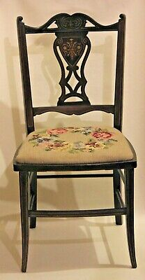 Beatiful Antique 19th Century Childs Mahogany Inlaid Occasional Child Chair
