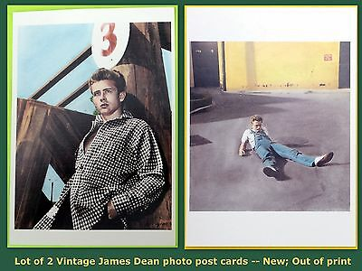 JAMES DEAN 2 Vintage Post Card - 1950s photograph (4¼ x 6 in.) out of print NEW