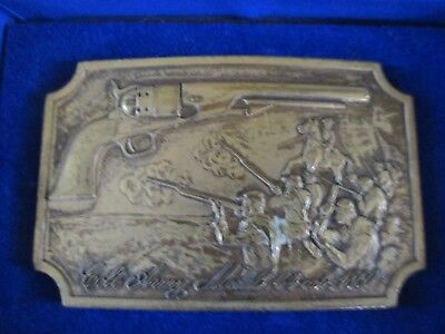 Colt Firearms Brass Belt Buckle 1860 Army In Box New