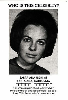 DIANE KEATON Postcard - High School Yearbook photo (Santa Ana HS) New