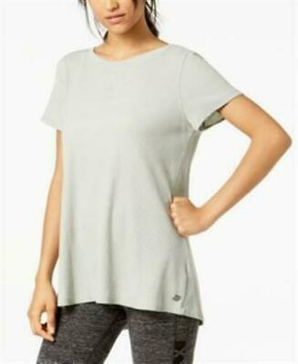 49$ Calvin Klein Performance Lace-Up-Back Top, Color: Silver Jade ,  Size: XL