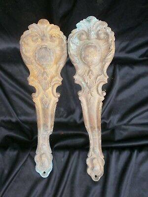 PAIR OF VINTAGE CURTAIN TIE BACKS, CURTAIN HOLDERS, FRENCH, GILTED ORMOLU. ref B
