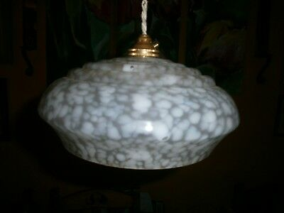 WHITE light shade, replacement glass lamp shade, Art Deco, French, Vintage. R04