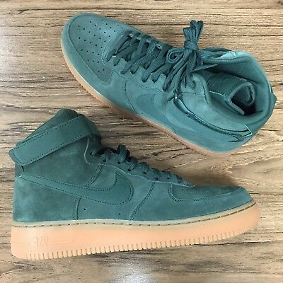 4316c3bece72 A1033G Nike Air Force 1 High 07 LV8 Suede Green AA1118-300 Mens Size 10
