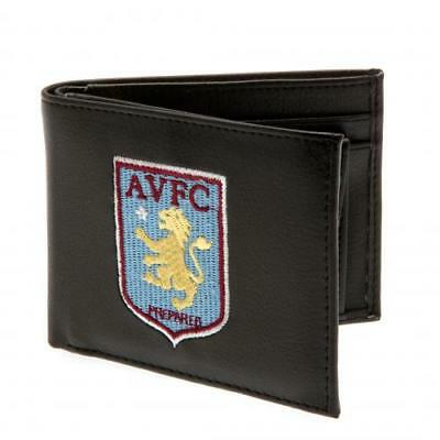 Aston Villa F.c Crest Embroidered Pu Leather Wallet - Executive Gift