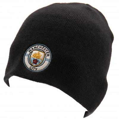 Manchester City F.c Adult Beanie Knitted Hat - Official Gift