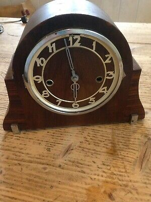 Vintage Art Deco Mantel Clock For Spares Or Repair