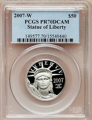 2007-W American Eagle Proof Platinum PCGS PR70 DCAM 1/2 oz