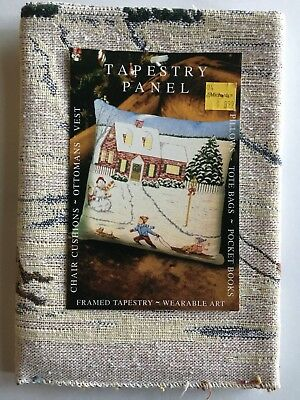 """Tapestry Panel """"Christmas Vacation """" 18""""x18"""" Oakhurst Textiles For Pillows,Totes"""