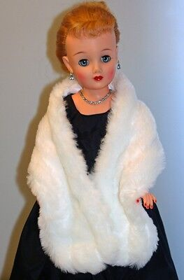 "Long /& Luxurious Faux Fur Wrap for Fashion Dolls 18-30/""  22/"" Am Model and MORE"